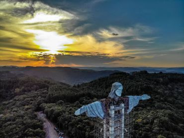 Christ d'Encantado, au Brésil