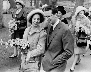 la reine Fabiola et le roi Baudouin le 7 janvier 1962
