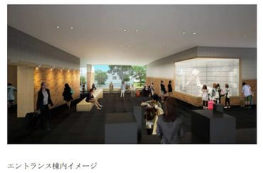 Maquette 3D du lobby de l'hôtel Hen-na