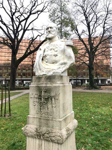 Statue du général Emile Storms à Ixelles