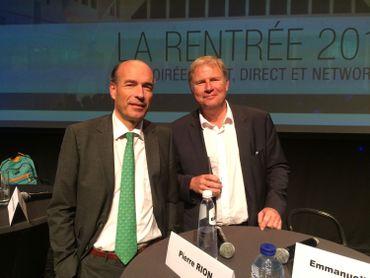 Olivier de Wasseige (droite) et Pierre Rion (gauche)