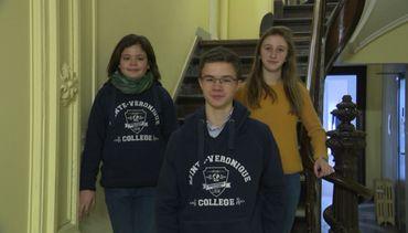 Clara, Héloïse et Baptiste, filmés au Collège Saint-Véronique de Liège