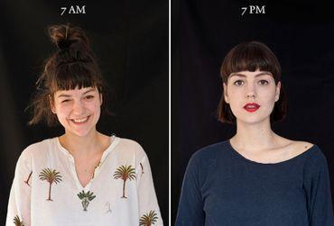Entre 7h du matin et 19h, voici comment évolue votre visage et votre image