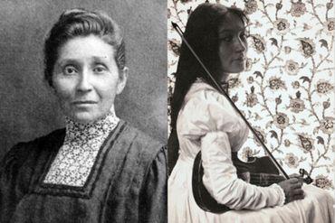 Le docteur Susan La Flesche Picotte et Zitkala-Sa, avec son violon