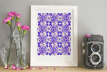 Affiche motif Azulejos