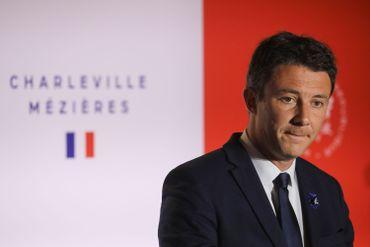 Benjamin Griveaux, porte-parole du gouvernement français, à Charleville-Mézières, ce 07 novembre