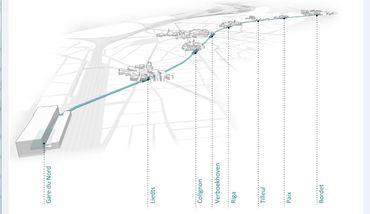 La projection des 7 stations qui devraient être terminées en 2025.