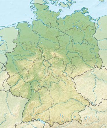 Carte des reliefs allemands