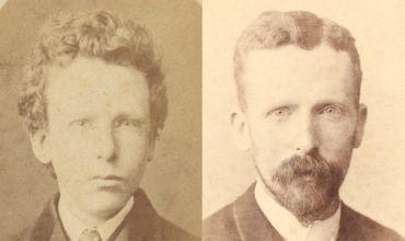 Deux portraits de Theo van Gogh. A gauche, celui qu'on identifiait jusqu'ici comme Vincent van Gogh à l'âge de 13 ans et qui se révèle être Theo à l'âge de 15 ans. A droite, Theo van Gogh à l'âge de 32 ans.