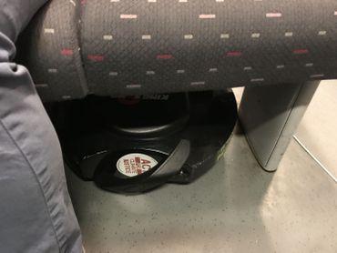 La monoroue est aussi très facile à caser sous le siège.