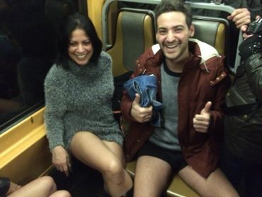 En slip dans le métro