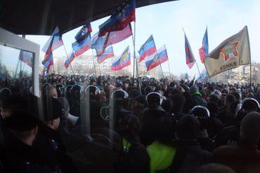 Manifestation pro-russe à Donetsk