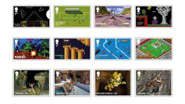 Le Royaume-Uni célèbre les jeux vidéo sur ses timbres