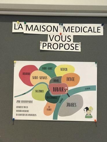 Le périmètre couvert par la maison médicale du quartier des Arsouilles à Namur.
