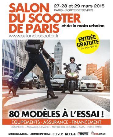 Le 6e Salon du scooter de Paris se tiendra du 27 au 29 mars 2015.
