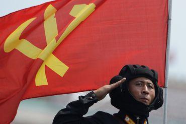 Un militaire nord-coréen lors d'un des nombreux défilés militaires dont raffole le dictateur Kim Jong-Un.