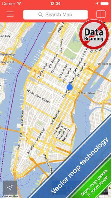 City Maps2Go, l'appli qui signale les points d'intérêt touristiques.