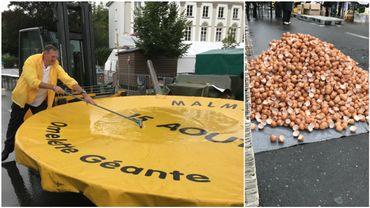 Environ 1000 personnes à Malmedy pour l'omelette géante (photos et vidéos)