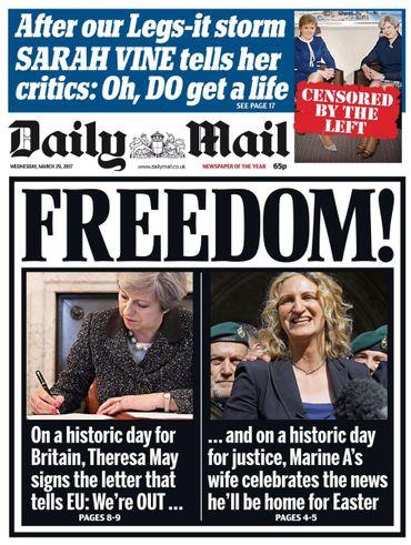 La une du Daily Mail