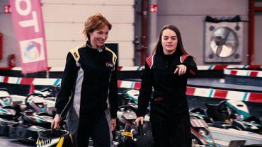 Armelle et  Manon Degotte , la jeune championne au Karting d'Eupen
