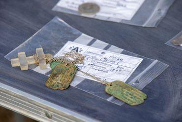 Artefacts trouvés lors des fouilles sur l'Oosterweel (2/04/21)