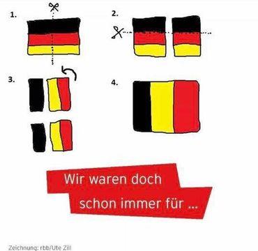 """""""On n'a qu'à recoudre notre drapeau!"""": l'astuce des supporters allemands après leur défaite au Mondial"""