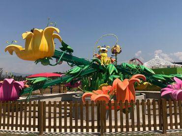 Une dizaine d'attractions sont proposées dans le parc Spirou.