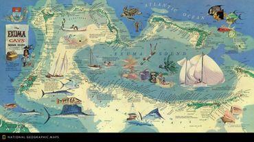 Des illustrations de navires et de la vie marine peints par Russ Smiley, numéro de février 1967.