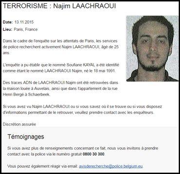 Recherché par la police, Najim Laachraoui pourrait être l'artificier des attentats de Paris