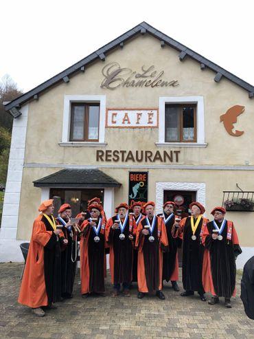 Le Chameleux est aussi « Ambassadeur » de la bière d'Orval et un lieu prisé par les membres de la Confrérie des Sossons d'Orvaulx. - © Tous droits réservés