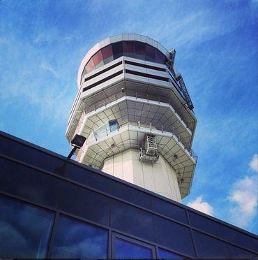 La tour de Belgocontrol à Brussels Airport.