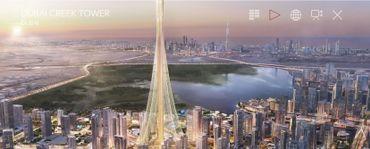 La future Creek Tower de Dubaï (1007 mètres de haut)