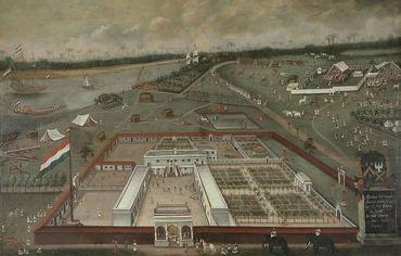 Comptoir à Hooghly, Bengale (1665), Hendrik van Schuylenburgh Rijksmuseum, Amsterdam