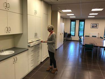 La salle du home dans la quelle sera installé le dispositif électoral.