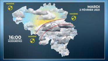Météo de ce mardi : pluie, vent et grande douceur