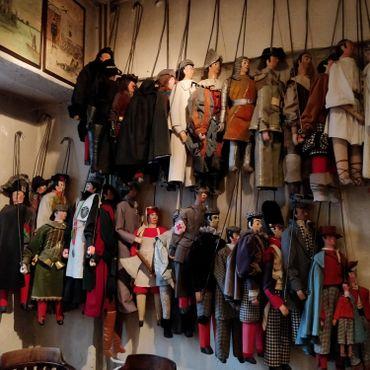 Les marionnettes du musée du théâtre de Toone