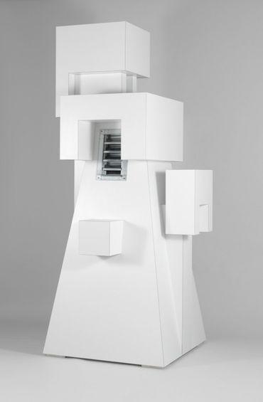 Rita McBride, Vent, 2010. Laminate on wood, 255 × 120 × 120 cm.