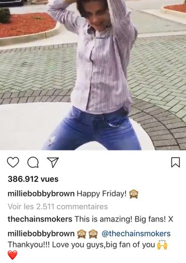 Eleven s'amuse et danse sur les Chainsmokers !