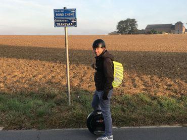 Depuis 2 ans, Christophe a décidé de se déplacer avec une monoroue électrique pour aller travailler.