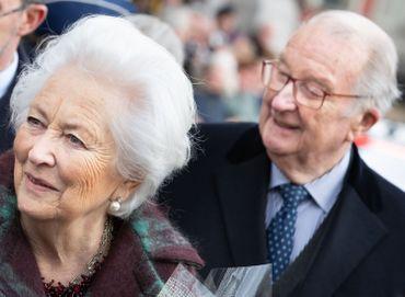 La Reine Paola et le Roi Albert II le 17 février 2020 à Laeken