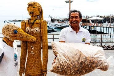 Miguel Andagana a ramassé 200kg de cigarettes en 5 ans et sensibilisé des centaines de personnes grâce à ses sculptures en mégots.