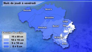 Neige et vent: alerte orange à la mer et alerte rouge sur la province de Liège