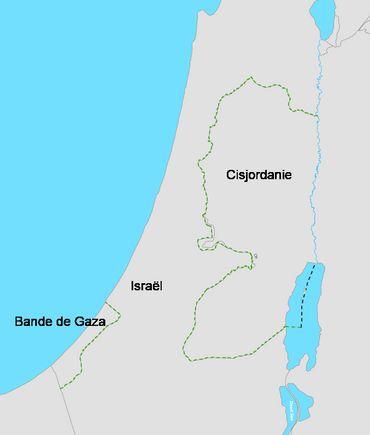 La Cisjordanie et Gaza sont séparés par le territoire israélien.