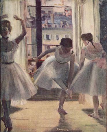 Trois Danseuses (1873), huile sur toile, 27 × 22 cm, collection particulière.