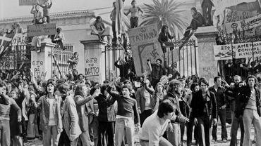 Manifestation contre le régime des Colonels en Grèce, 1967