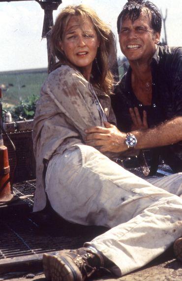 Avec Hélène Hunt dans Twister