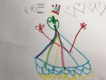 La princesse Tiana, par Rose, 4 ans