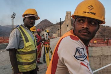 Travailleurs sur le GERD, le 26 décembre dernier