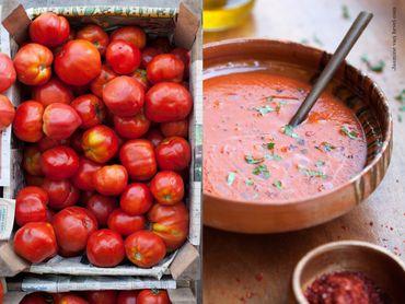 Soupe de duo de tomates