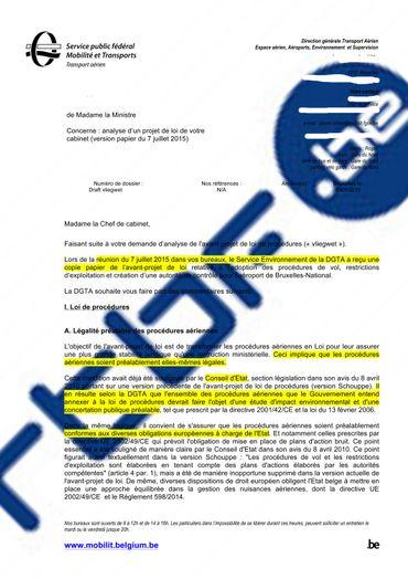 """Le SPF Mobilité dézingue le projet """"Vliegwet"""" de Jacqueline Galant"""